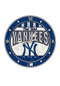 Memory Company MLB New York Yankees 12-in. Art-Glass Clock