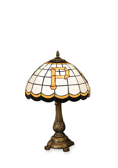 Memory Company MLB Pittsburgh Pirates Tiffany Stained Glass Table Lamp
