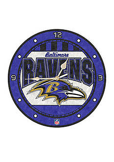 Memory Company NFL Baltimore Ravens 12-in. Art-Glass Clock