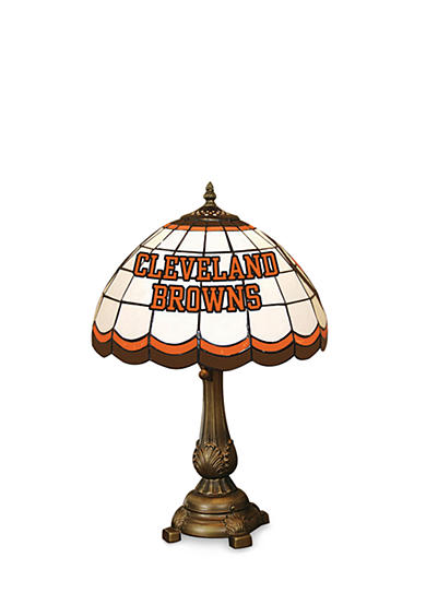 Memory Company NFL Cleveland Browns Tiffany Stained Glass Table Lamp