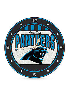 Memory Company NFL Carolina Panthers 12-in. Art-Glass Clock