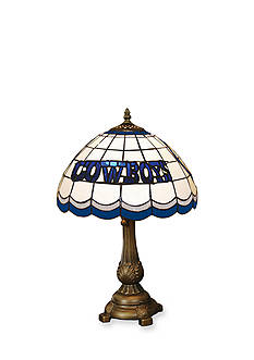 Memory Company NFL Dallas Cowboys Tiffany Stained Glass Table Lamp