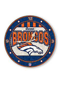 Memory Company NFL Denver Broncos 12-in. Art-Glass Clock