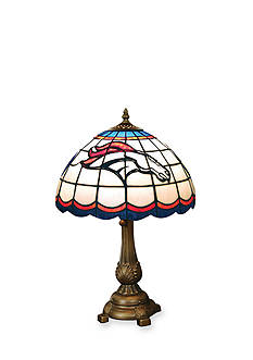 Memory Company NFL Denver Broncos Tiffany Stained Glass Table Lamp