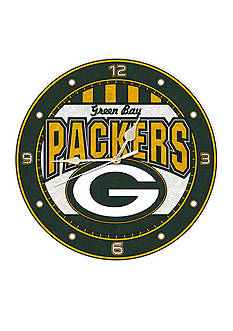 Memory Company NFL Green Bay Packers 12-in. Art-Glass Clock