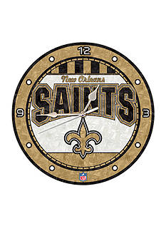 Memory Company NFL New Orleans Saints 12-in. Art-Glass Clock