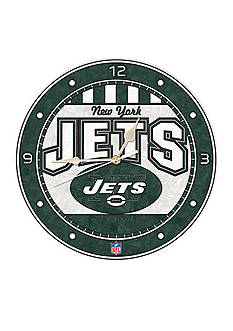 Memory Company NFL New York Jets 12-in. Art-Glass Clock