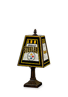 Memory Company NFL Pittsburgh Steelers 14-in. Art-Glass Table Lamp