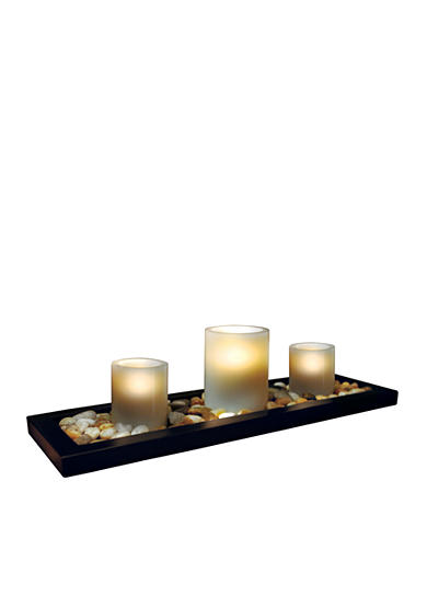 Home Accents® 3-Piece LED Flameless Candle Set with Tray