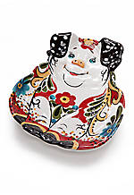 Emily Pig Appetizer Plate 7-in. x 5.5-in.