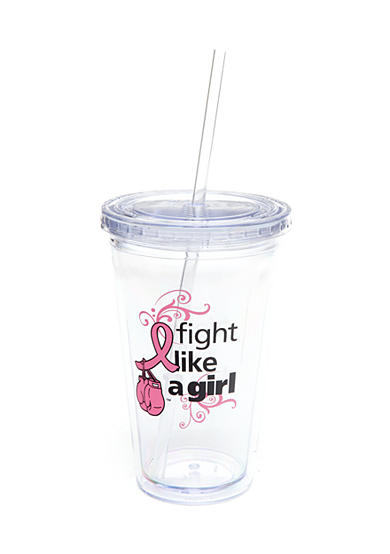 Signify Pink Breast Cancer Awareness Tumbler with Straw