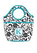 Home Accents® Monogram Black Vines Lunch Bag