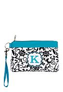 Home Accents® Monogram Black Vines Wristlet