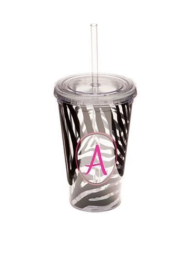 Home Accents® Zebra Monogram Tumbler 16-oz. - More Letters Available