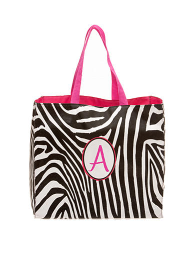 Home Accents® Zebra Monogram Shopping Bag