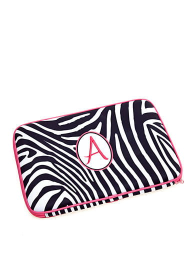 Home Accents® Zebra Monogram Laptop Case