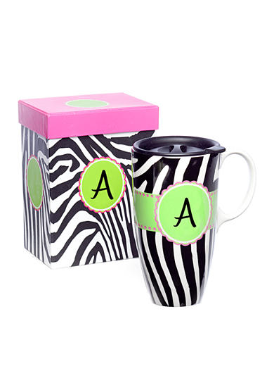 Home Accents® Monogram Zebra Boxed Travel Mug