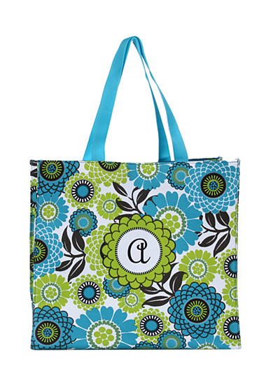 Home Accents® Monogram Blue Floral Lunch Tote