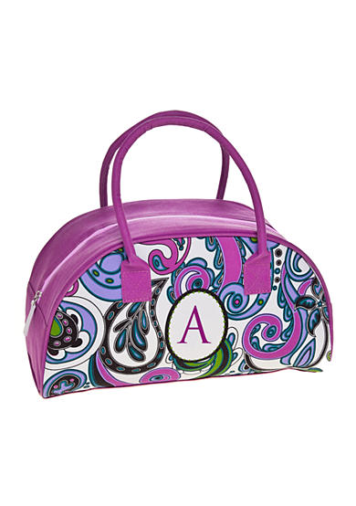 Home Accents® Monogram Purple Paisley Lunch Tote