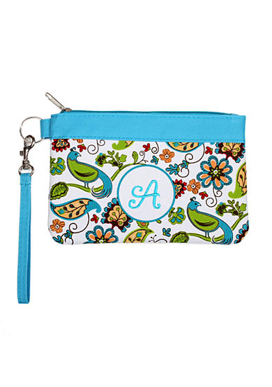 Home Accents® Monogram Floral Bird Wristlet