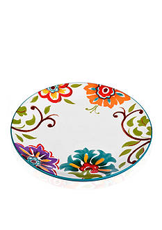Home Accents 10.75-in. Round Floral Dinner Plate