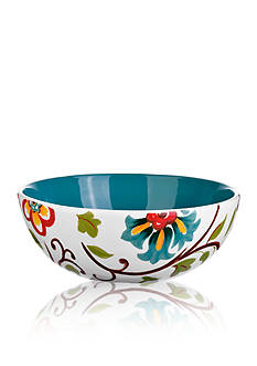 Home Accents 10.5-in. Round Floral Serving Bowl