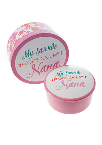 Home Accents® 5-in. 'My Favorite People Call Me Nana' Trinket Jar