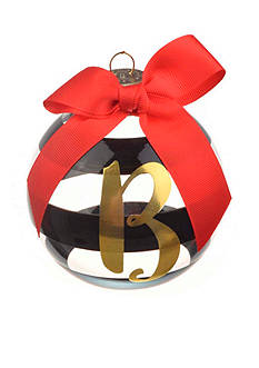 Home Accents 3.75-in. Striped Monogram Ornament