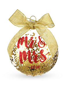 Home Accents® 3.75-in. 'Mr. & Mrs.' Boxed Ornament