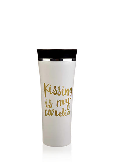Home Accents® 'Kissing Is My Cardio' Stainless Steel Tumbler