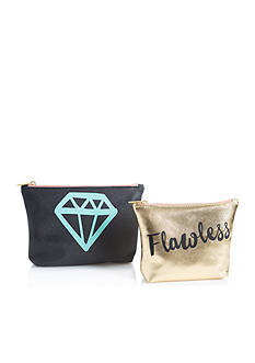 Home Accents 2-Piece 'Flawless' Cosmetic Bag Set