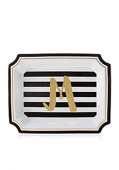 Home Accents 9.25-in. Monogram Ceramic Tray