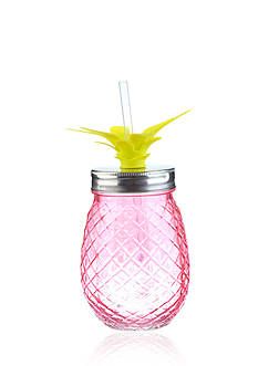Home Accents Tropical 16-oz. Pineapple Glass Sipper