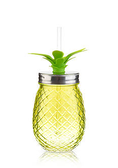 Home Accents® Tropical 16-oz. Pineapple Glass Sipper