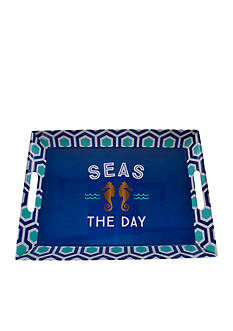 Home Accents® Nautical Prep Seas the Day Serving Tray