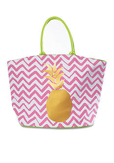Home Accents Tropical Pineapple Tote Beach Bag
