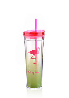 Home Accents® Tropical 17-oz. Happiness Is A State Of Mind Tumbler