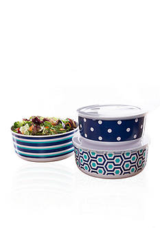Home Accents Nautical Prep 6-Piece Nested Food Storage Set