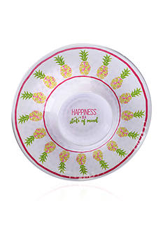Home Accents Tropical Pineapple Chip and Dip Plate