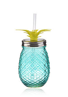 Home Accents Nautical Prep 16-oz. Pineapple Glass Sipper