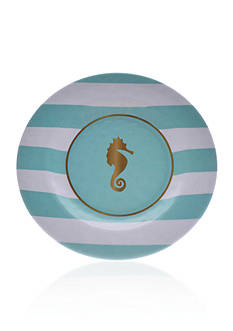 Home Accents Nautical Prep Seahorse Salad Plate