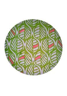 Home Accents Tropical Leaf Dinner Plate