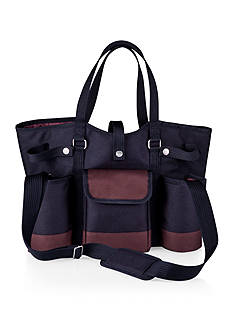 Picnic Time Wine Country Tote Black With Merlot Trim