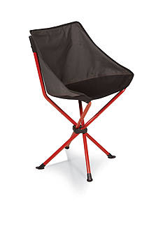 Picnic Time Grey and Red PT Odyssey Chair