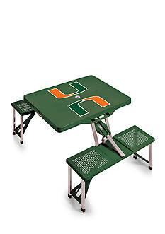 Picnic Time Miami Hurricanes Portable Picnic Table