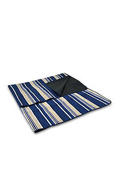 Picnic Time Blanket Tote Blue Stripe