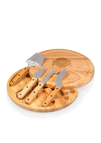 Picnic Time Ohio State Buckeyes Circo Cheese Board and Tools Set