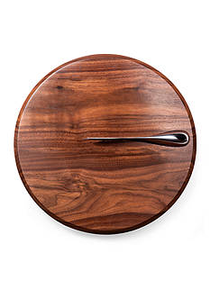 Legacy Heritage Collection by Fabio Viviani SOLSTICE BLACK WALNUT CUTTING BOARD AND CHEESE KNIFE SET