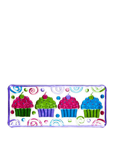 Home Accents® Hand Painted Rectangular Cupcake Tray