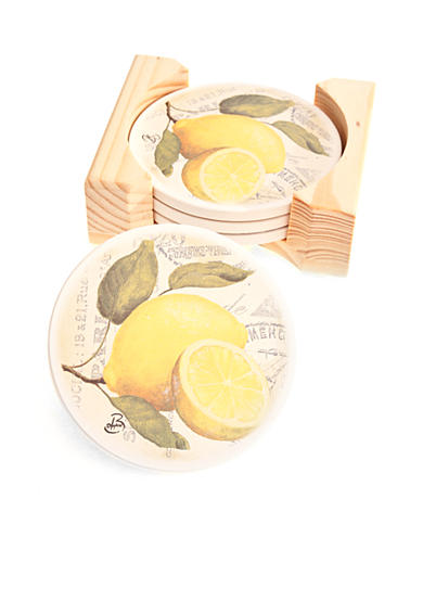 Home Accents&reg; Lemon Coasters<br>